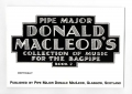 Pipe Major Donald Macleod's Collection of Music for the Highland bagpipe Book 2