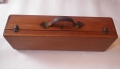 Second hand wooden bagpipe case